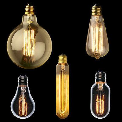 40 Watt Vintage Carbon Filament Edison E27 Screw Light Bulb Rare bulbs 220v
