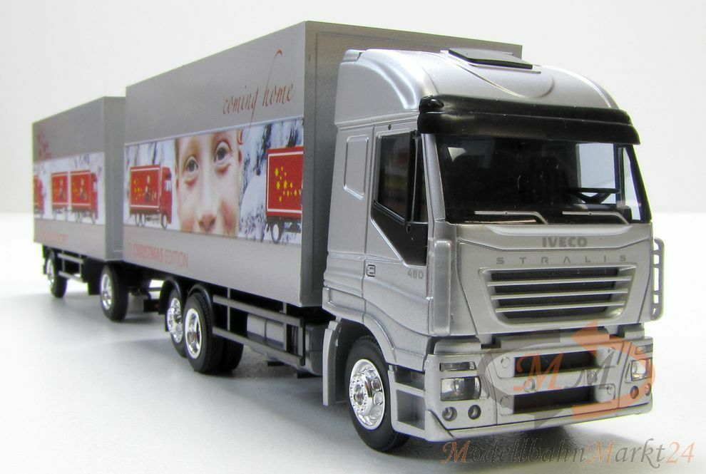AWM IVECO STRALIS 480 Kofferzug 8. Christmas Edition Young Promotional Model 1 87 Boxed