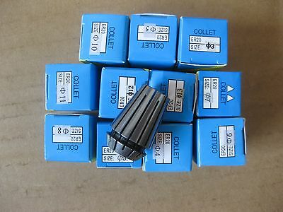 Spindle motor collet ER20 collets 12pcs 2mm to 13mm for milling cutters