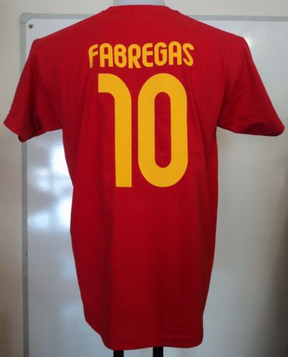 SPAIN FABREGAS 10 WORLD AND EURO CHAMPIONS TSHIRT ADULTS SIZE MEDIUM BRAND NEW