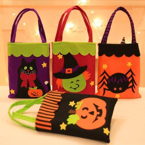 Halloween Dekorationen Vlies Sticker Handtasche Süßes oder Saures Bonbon