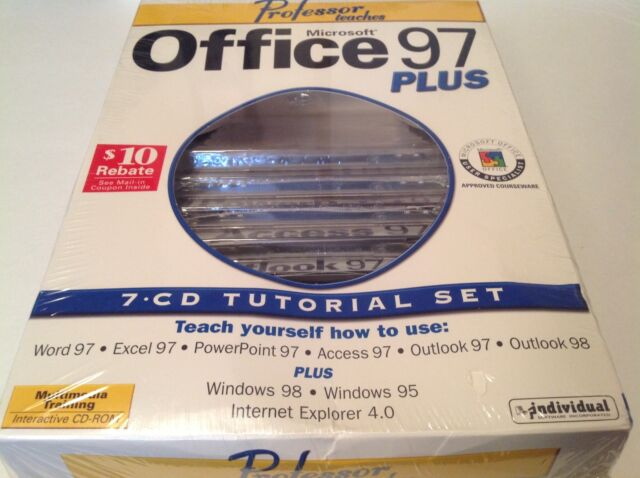 Professor Teaches Microsoft Office 97 Plus 7 CD Tutorial Set Excel  PowerPoint