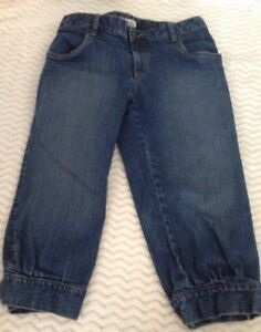 METRO 7 Women's Blue Jean Cuffed Button Tapered Capris Size 2