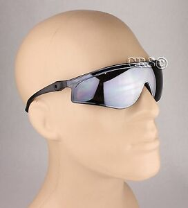 Biker-Motorcycle-Riding-Sun-Glasses-Ratcheting-Arm-Stem-Tilting-Mirror-Padded