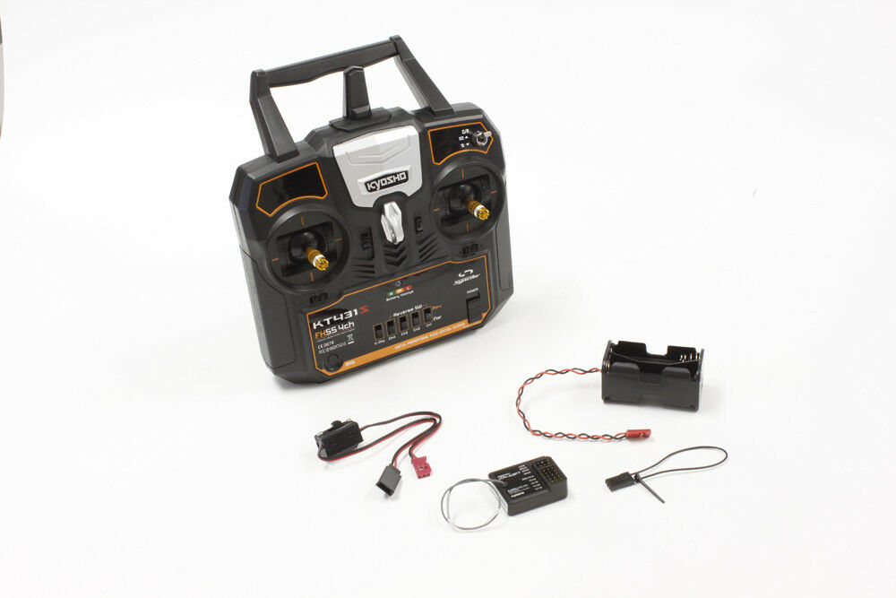 KYOSHO SYNCRO TRANSMITTER & RECEIVER KIT 4 CHANNEL HELICOPTER , AIRCRAFT, BOAT,