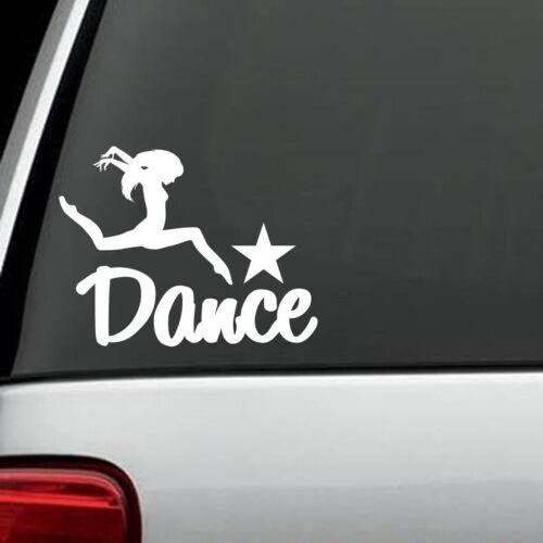 F1050 Dance Decal Sticker Dancer Ballet Ballerina Car Truck SUV Studio Theatre
