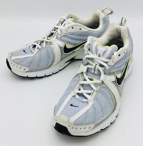 White Running Shoes Navy Swoosh   eBay