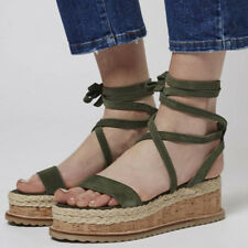 promo code 2ec34 df587 item 1 Womens Ladies Platform Cork Espadrille Wedge Sandals Ankle Peep Toe  Shoes Size -Womens Ladies Platform Cork Espadrille Wedge Sandals Ankle Peep  Toe ...