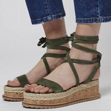 promo code e44c7 58fac item 1 Womens Ladies Platform Cork Espadrille Wedge Sandals Ankle Peep Toe  Shoes Size -Womens Ladies Platform Cork Espadrille Wedge Sandals Ankle Peep  Toe ...