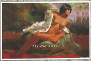 "1950's Earl Moran Pin-Up Poster Art Print ""Reclining Nude"" 11x17"