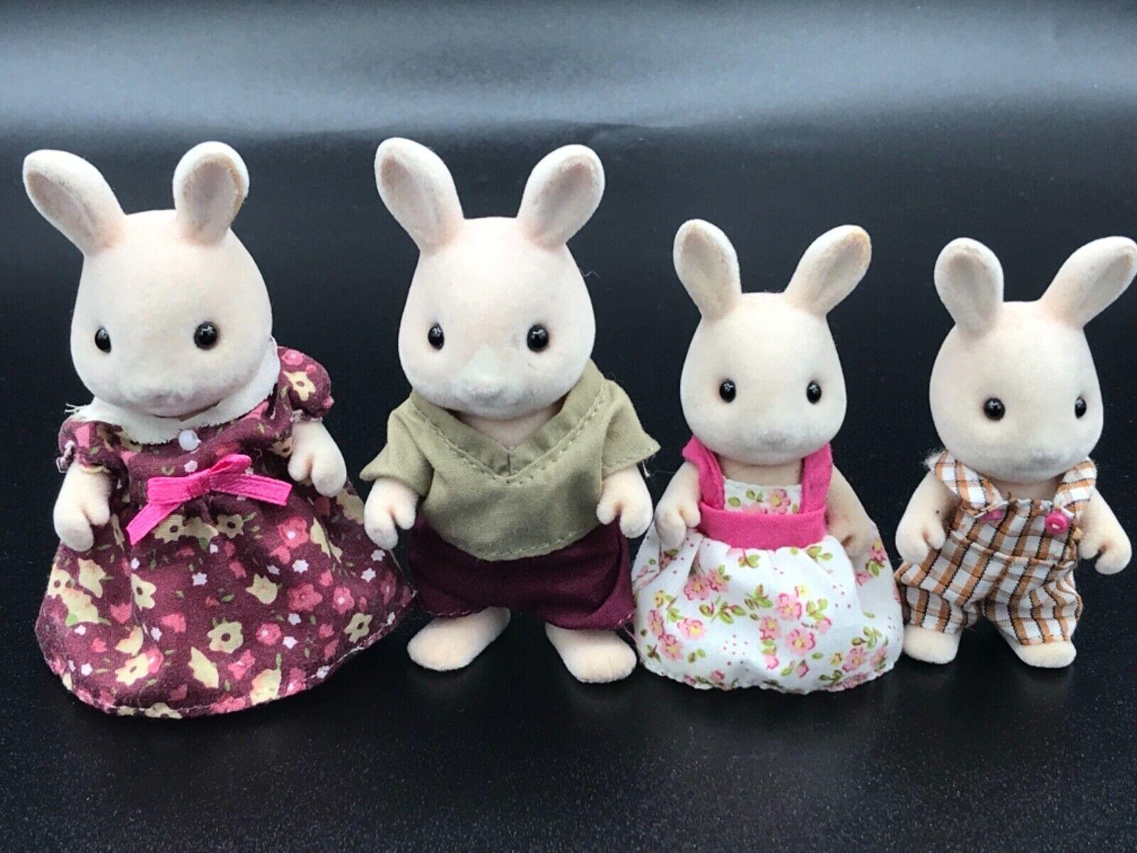 Calico Critters Sylvanian Families Champagne Hopkins RARE Rabbit Family