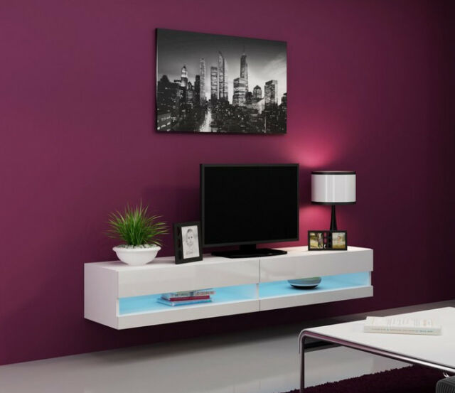 Seattle 31 white tv stand for flat screens / tv stand cabinet / tv console table