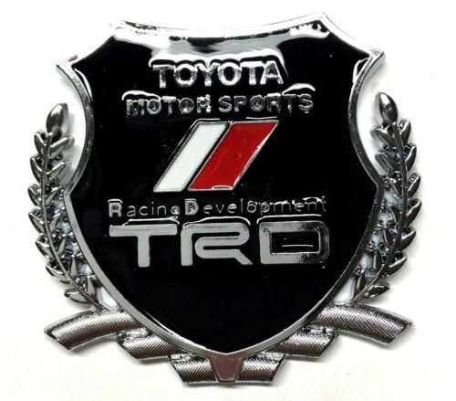 Black TRD Crest Emblem Replaces OEM Toyota Racing Development Sports Badge
