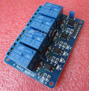 Detalles acerca de 12v Cuatro 4 Canales el módulo De Relé Con Optoacoplador  Pic Avr Dsp Arm Arduino 8051- mostrar título original