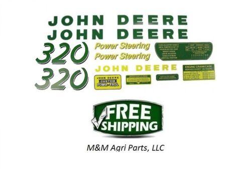 Decal set John Deere 320 Tractor