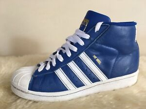 finest selection 73c33 892bd Image is loading Adidas-Originals-Pro-Model-Royal-Blue-White-Gold-
