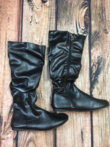 ENZO Womens Black Tall Fashion Boots Fall Winter Size 6 7 8