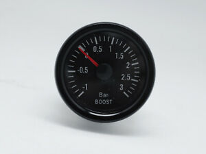 52mm-2-034-Mechanical-Turbo-Boost-Gauge-Meter-3-BAR-White-LED-Traditional-Series