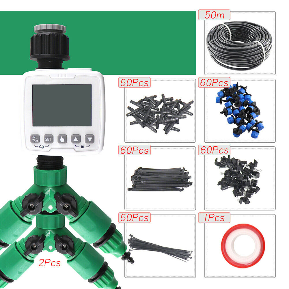 50M Micro Drip Irrigation System Watering Kit Smart Garden Automatic Plant Tools