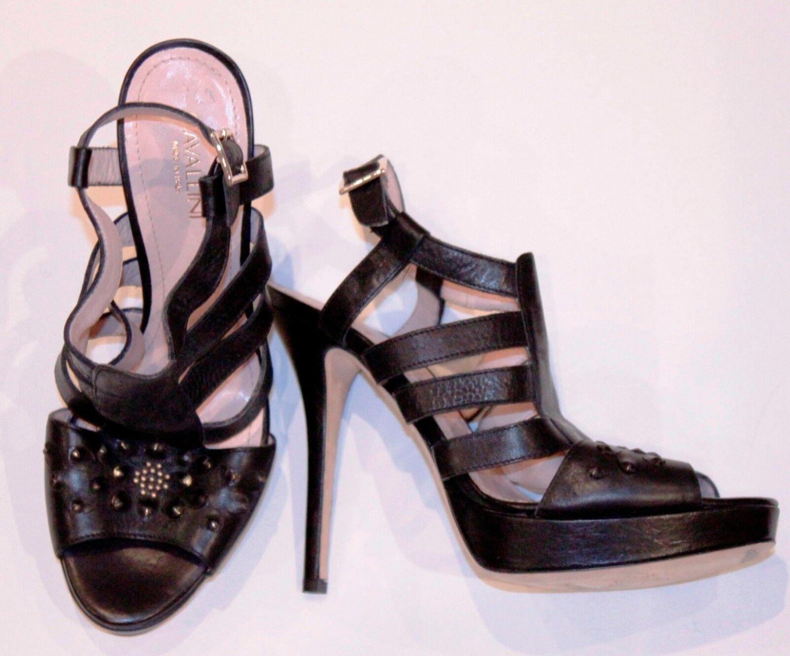 Cavallini Talón Sandalias zapatos de plataforma de de de Italia Negro 39 8  560 Envío Gratuito  tienda de venta