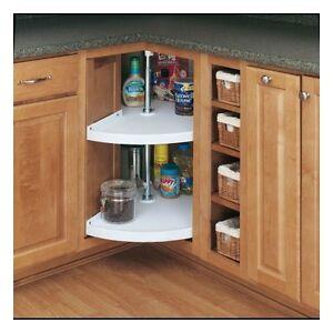 rev a shelf lazy susan 2 storage shelves kitchen cabinet organizer rack hardware ebay. Black Bedroom Furniture Sets. Home Design Ideas