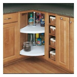 Details about Rev A Shelf Lazy Susan 2 Storage Shelves Kitchen Cabinet  Organizer Rack Hardware