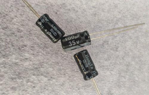 électrochimique 100uF tension 35V 6x11mm radiale condensateur électrolytique