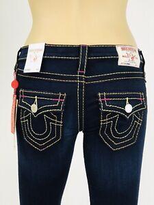 249-Blue-Skinny-True-Religion-Women-Jeans-25-26-27-28-29-32-33-Super-Skinny