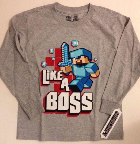 NWT MINECRAFT Like a BOSS T Shirt  Boys Sizes 6//8 10//12 14//16 18//20