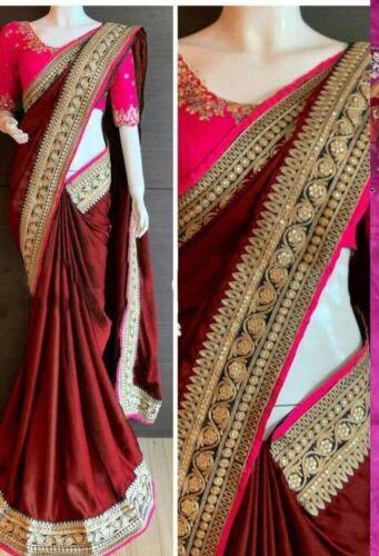 rangoli silk blend saree for women banglori blouse embroidery work wedding