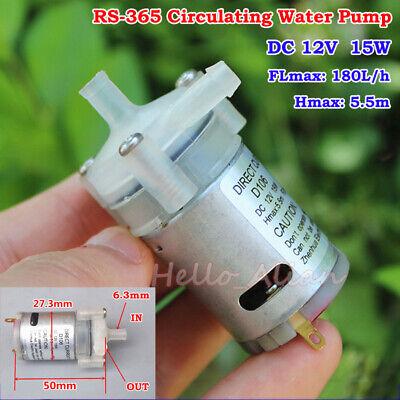 DC 12V 180L//h Large Flow Small RS-365 Circulating Water Pump Micro Impeller Pump