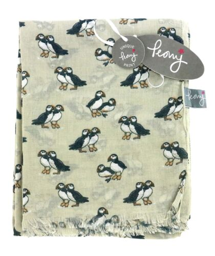 Ladies Puffin Scarf from Peony