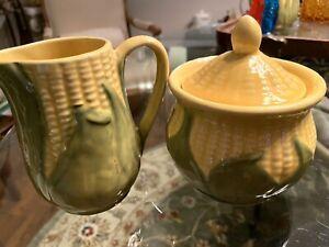 Shawnee-Corn-King-Creamer-and-Sugar-Bowl-Lid-70-and-78