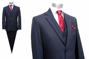 Herren-Anzug-3-teilig-Muga-Gr-90-Dunkelblau