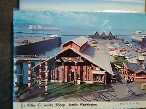 VINTAGE-POST-CARD-AERIAL-VIEW-OVER-YE-OLD-039-E-CURIOSITY-SHOP-SEATTLE-WASHINGTON