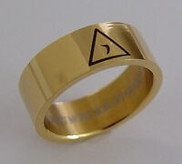 Scottish Rite 14th Degree Ring Stainless Steel Layered In Gold