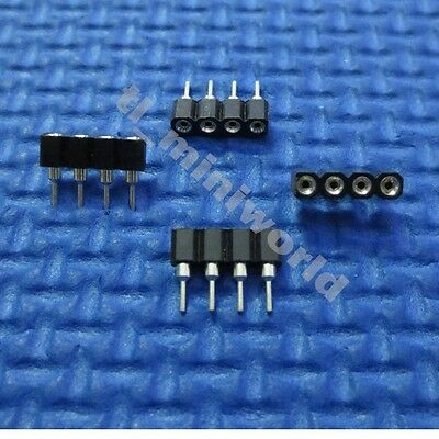 30x male to female 2.54mm 4 pins 4P Connector for 3528 5050 RGB led strip Black