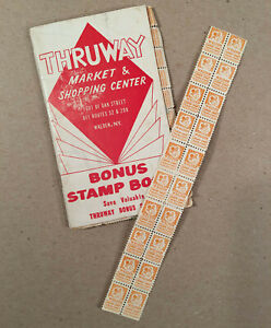 Walden-NY-c-1950s-THRUWAY-MARKET-Bonus-Stamp-Book-with-a-few-Stamps-Too