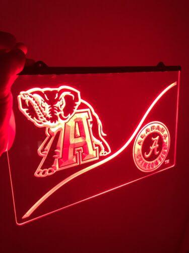 Man Cave ROLL TIDE! Alabama Crimson Tide LED Neon Sign for Game Room,Office