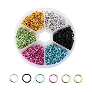 1080pcs-6-mm-Aluminium-Multicolore-Open-Jump-Ring-Connecteur-pour-A-faire-soi-meme-Jewelry-Making