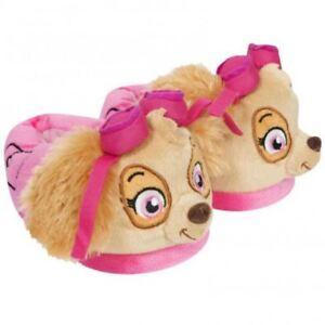 db36f5d32e91 Paw Patrol Plush Childrens Kids Girls 3D Slippers Skye Flip Flops ...
