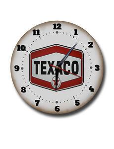 TEXACO-250mm-10-034-Diametro-Metal-Reloj-de-pared-TALLER-Reloj-TALLER-Reloj