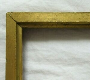 ANTIQUE-FITS-4-5-034-X-6-034-GOLD-GILT-WOODED-PICTURE-FRAME-FINE-ART-VICTORIAN