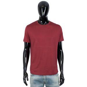 LORO PIANA 535$ Shortsleeve Crewneck Tshirt In Indian Red Cotton & Silk