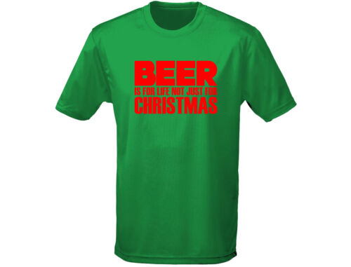 Beer Is Not Just For Christmas Funny Mens T-Shirt 12 Colours