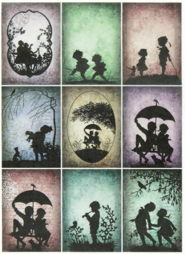 Rice Paper for Decoupage Decopatch Scrapbook Craft Sheet Silhouette Children