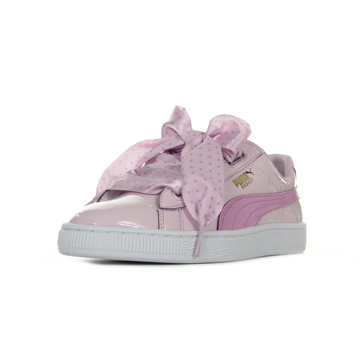 Chaussures Baskets Puma femme Basket Heart Stars Jr taille Rose Synthétique
