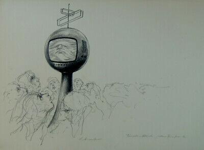 Price Remains Stable Fernsehabend Zeichnung Von Himler O.ä