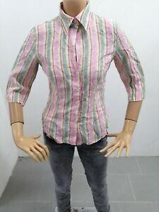Camicia-MARELLA-Donna-Taglia-Size-42-Shirt-Woman-Chemise-Femme-Lino-P-7296
