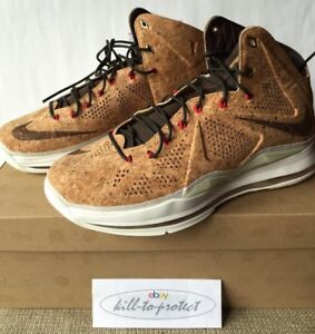 NIKE-LEBRON-X-10-EXT-CORK-Sz-US-UK-7-8-9-10-11-12-13-Brown-580890-200-NSW-2013